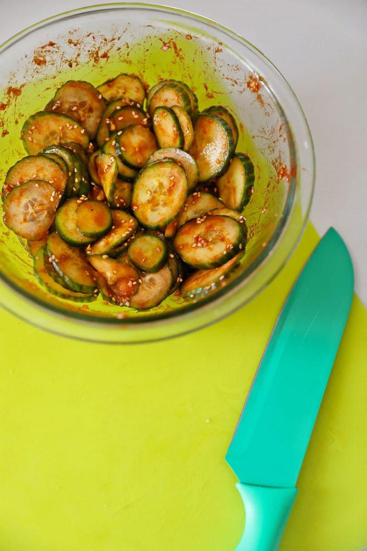 Korean Cucumber Salad Recipe - Mom's Authentic Korean Cucumber Side Dish