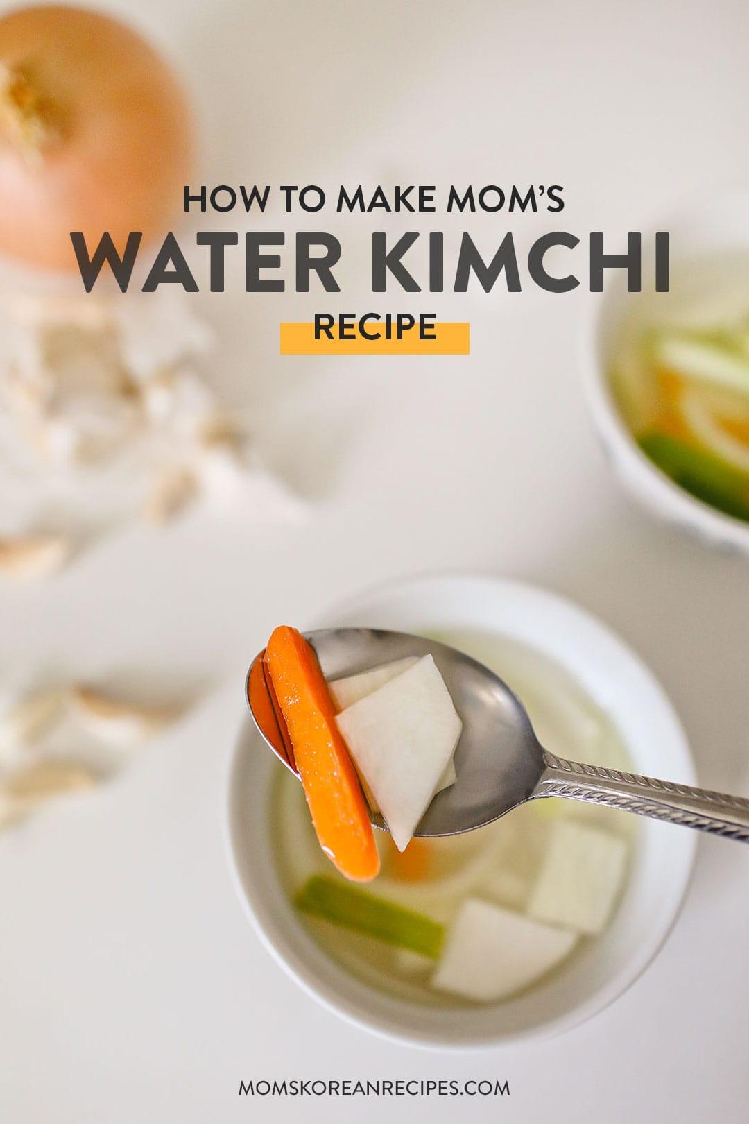 How to Make Mom's Radish Water Kimchi / Dongchimi Recipe