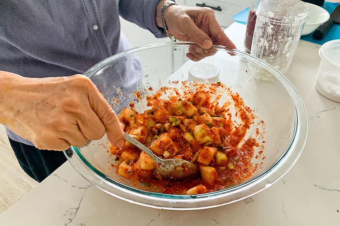 red radish kimchi recipe