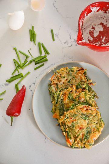 Seafood Korean Scallion Pancake Recipe